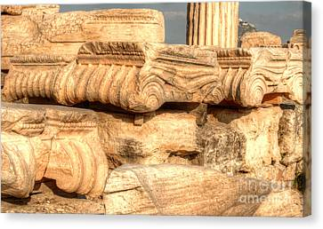 Columns Of The Parthenon Canvas Print by Deborah Smolinske