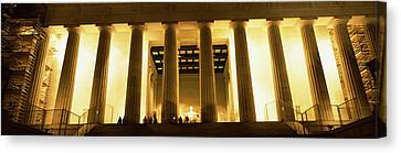 Columns Surrounding A Memorial, Lincoln Canvas Print by Panoramic Images