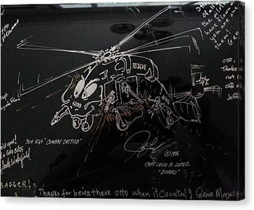 Combat Catfish Canvas Print by Julio Lopez
