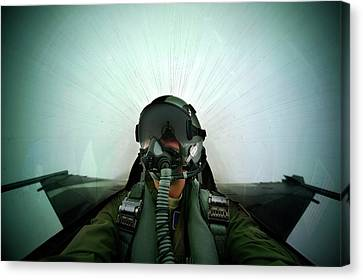 Cope Canvas Print - Combat Exercise by Us Air Force