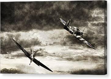 Combat Spitfires Canvas Print