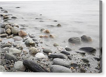 Canvas Print featuring the photograph Combing The Beach by Andrew Pacheco