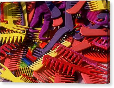 Canvas Print featuring the photograph Combs by Rodney Lee Williams