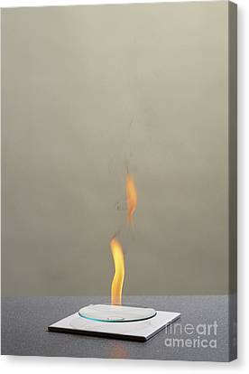 Combustion Of An Alkane Canvas Print by Martyn F. Chillmaid