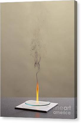 Combustion Of Cyclohexene Canvas Print by Martyn F. Chillmaid