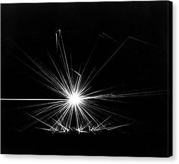 Combustion Of Liquid Metal In Air Canvas Print by Us Department Of Energy