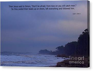 Come And Fish With Me Canvas Print by Sandra Clark