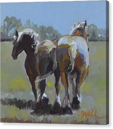 Come Back Max And Major Canvas Print by Pattie Wall