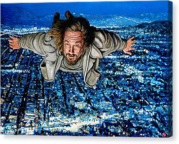 Canvas Print featuring the painting Come Fly With Me by Tom Roderick