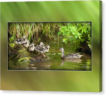 Come On...the Waters Fine. Canvas Print by Diane Hagler