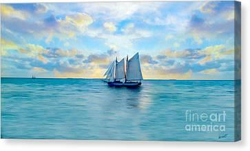 Come Sail Away Painting Canvas Print by Jon Neidert