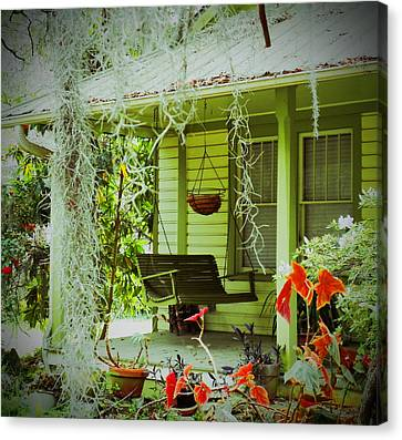 Come Sit Awhile Canvas Print by Patricia Greer