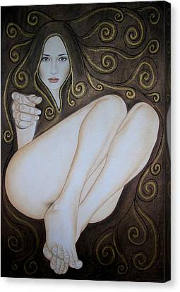 Swirling Desires Canvas Print - Come To Me by Lynet McDonald