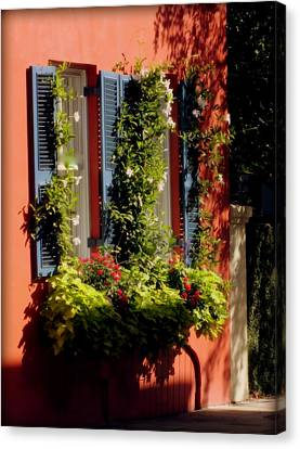 Charleston Houses Canvas Print - Come To My Window by Karen Wiles