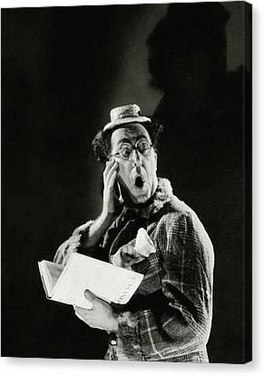Comedian Ed Wynn Looking Shocked Canvas Print by Edward Steichen