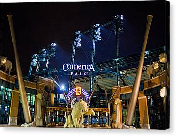 Comerica Park At Night  Canvas Print by John McGraw