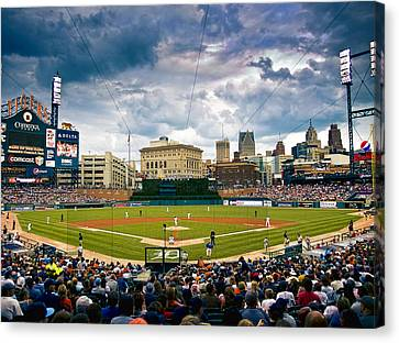 Comerica Park Canvas Print by Cindy Lindow