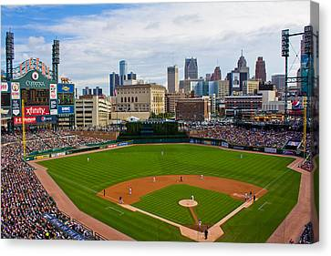 Comerica Park Canvas Print by John McGraw