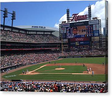 Comerica Park Canvas Print by Michael Rucker