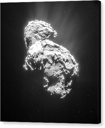 Comet 67pchuryumov-gerasimenko Canvas Print by Science Source