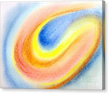 Comet Glow Color Abstract Canvas Print