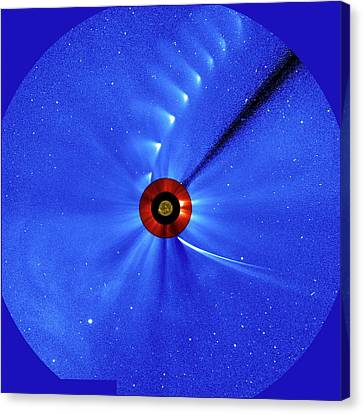 Comet Ison Canvas Print by Esa/soho/sdo/nasa