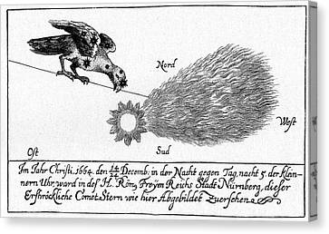 History Of Science Canvas Print - Comet Of 1664-5 by Cci Archives