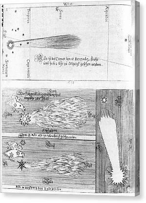Comet Of 1664-5 Canvas Print