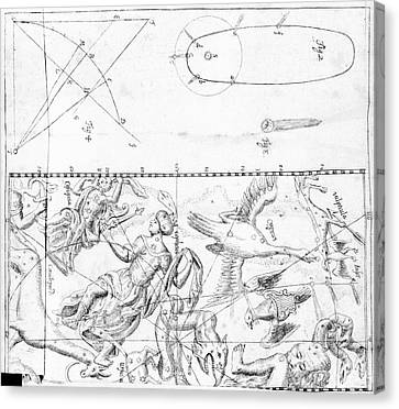 Comet Of 1742 Canvas Print
