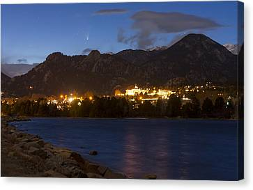 Canvas Print featuring the photograph Comet Panstarrs by Perspective Imagery