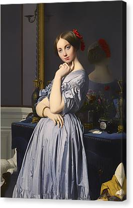 Chin On Hand Canvas Print - Cometesse D' Haussonville by Mountain Dreams