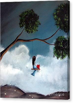 Comfortable Silence By Shawna Erback Canvas Print