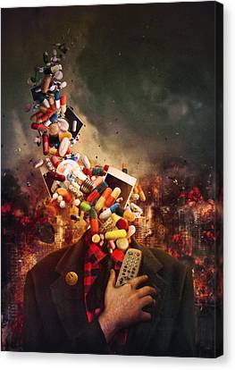 Destruction Canvas Print - Comfortably Numb by Mario Sanchez Nevado