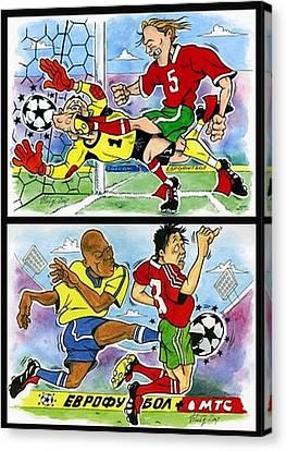 Comics About Eurofootball. First Page. Canvas Print by Vitaliy Shcherbak
