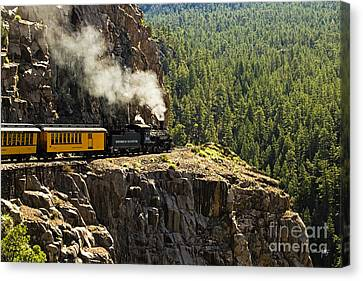 Coming Around The Bend Canvas Print by Scott Pellegrin