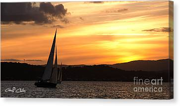 Coming Home .  Sunset Canvas Print by Geoff Childs