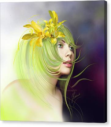 Coming Of Spring Canvas Print by Anna Ewa Miarczynska