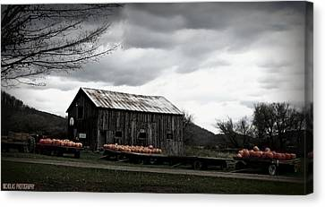 Barn Storm Canvas Print - Coming Storm by Kimberly Nicholas