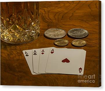 Coming Up Aces Canvas Print by Dale Powell