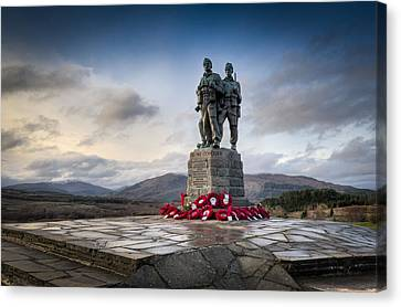 Commando Memorial At Spean Bridge Canvas Print