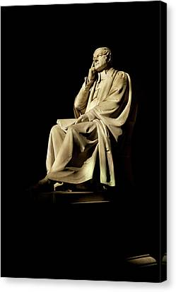 Commemorative Statues Of Benefactors Canvas Print by Panoramic Images