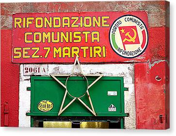 Commie Sign Canvas Print by Valentino Visentini