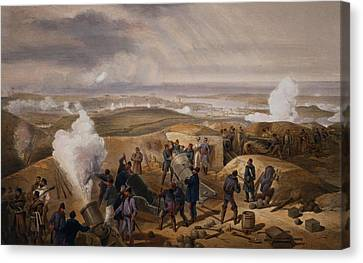 Commissariat Difficulties, Plate Canvas Print by William 'Crimea' Simpson