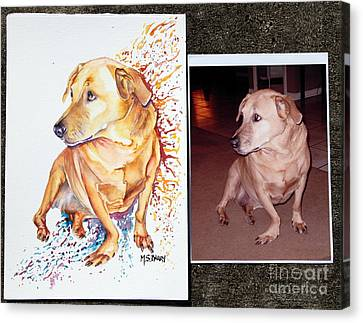 Commissioned Dog #2 Canvas Print by Maria Barry