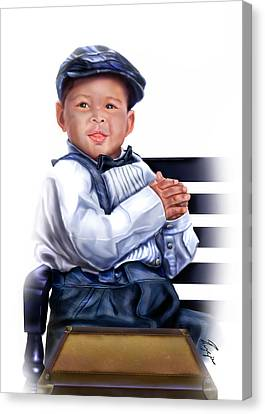 Commissioned - Handsome Baby Boy 1a Canvas Print by Reggie Duffie