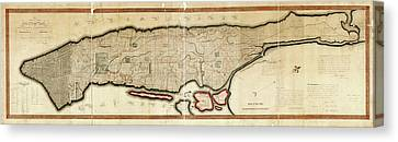 Commissioners' Plan Of Manhattan Canvas Print by Library Of Congress, Geography And Map Division