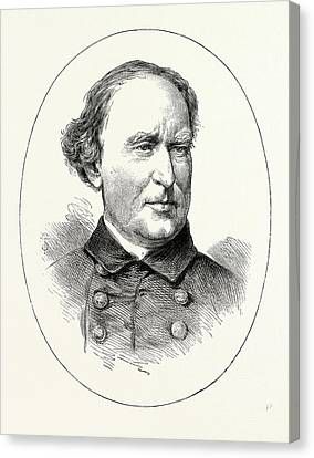 Commodore Farragut, He Was A Flag Officer Of The United Canvas Print by American School