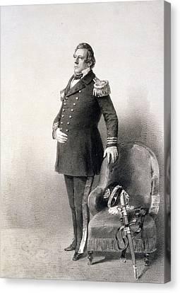 Commodore Matthew Calbraith Perry Canvas Print by Wilhelm Heine