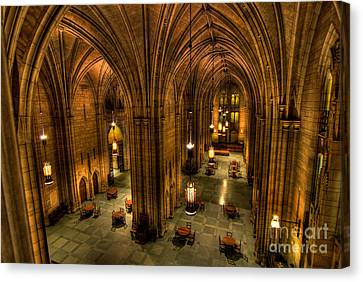 Commons Room Cathedral Of Learning University Of Pittsburgh Canvas Print by Amy Cicconi