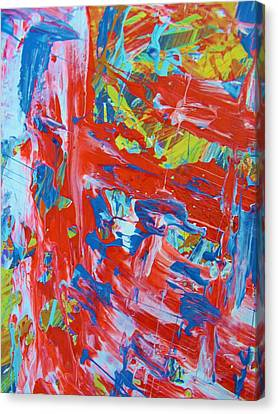 Commotion Canvas Print by Artist Ai